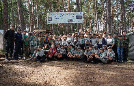 Obóz drużyn Hufca ZHP Lębork w Szklanej Hucie